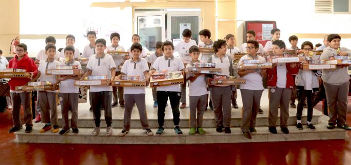 تكريم الطلاب المتقدمين لاختبارات موهبة