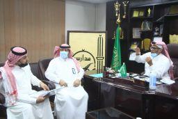زيارة مشرف القيادة المدرسية ومشرف التربية الإسلامية