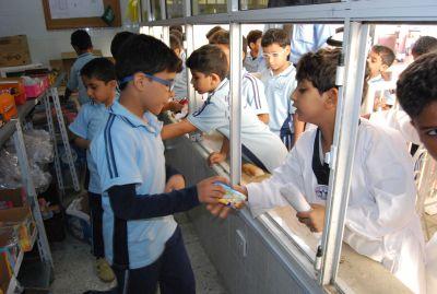 مشاركة الطلاب في المقصف المدرسي