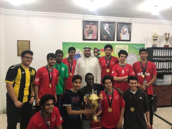 منتخب السلة بالقسم الثانوي يحرز بطولة مدارس مكتب النسيم